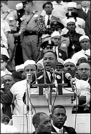 Delivered 28 August 1963, at the Lincoln Memorial, Washington D.C.