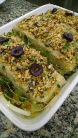 Bacalhau com crosta de Amendoas